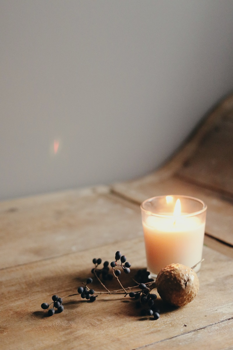 Light a candle for stress relief